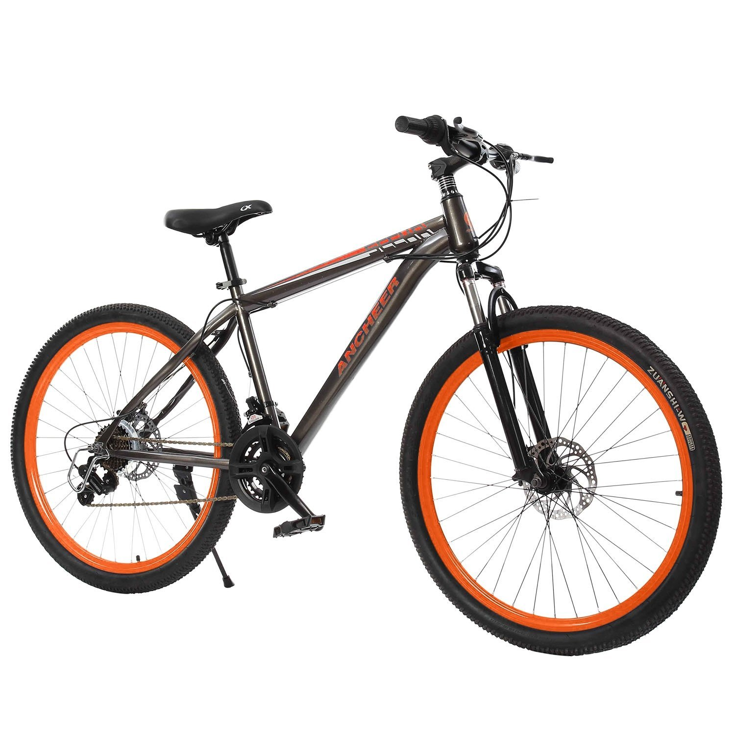 Best Mountain Bikes Under $500 - Ancheer 21-speed Hybrid Mountain Bike